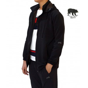 Moonbear Hooded Softshell Jacket - Black