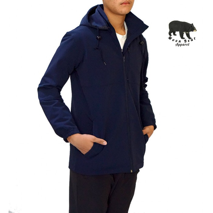 Moonbear Hooded Softshell Jacket - Navy Blue